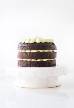 Chocolate Cake with Matcha Ganache