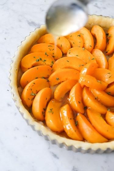Apricot Marzipan Honey Thyme Tart