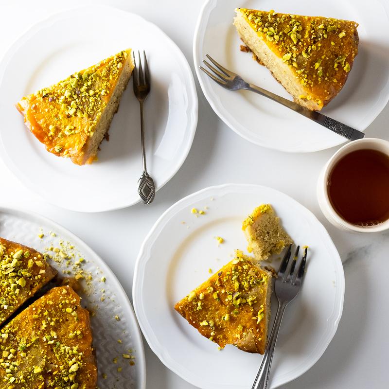 Cardamom Honey Pistachio Apricot Cake