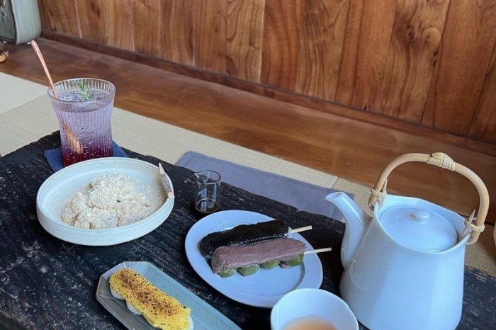 台中美食【良心製菓】榻榻米上的午茶時光| 日式烤糰子