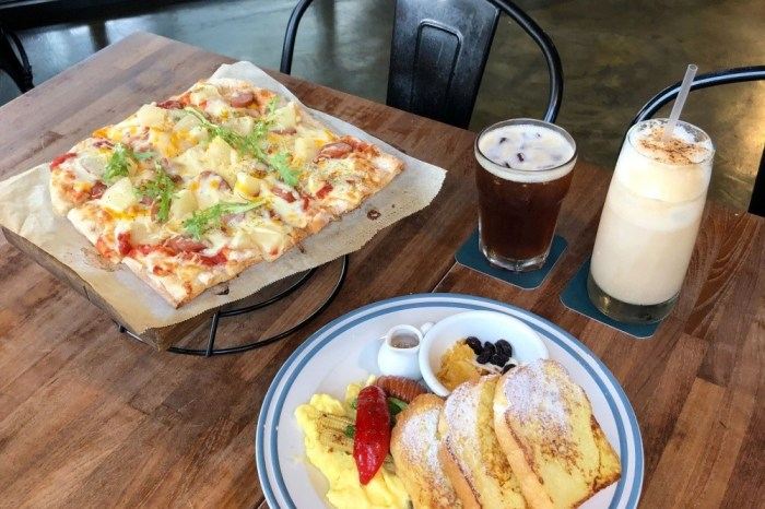 hecho做咖啡2店 Brunch &Bistro |勤美草悟道森林系異國料理|義大利街頭披薩、西班牙傳統市場早餐