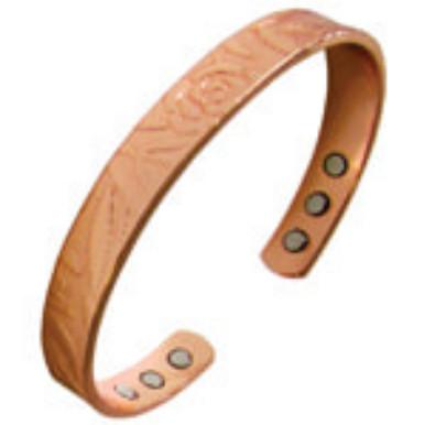 YumNaturals Emporium - Bringing the Wisdom of Nature to Life - Copper Magnetic Bracelet - Rose