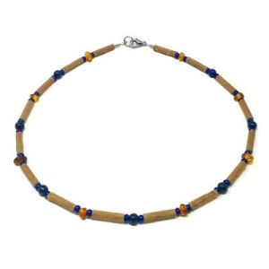 YumNaturals Emporium - Bringing the Wisdom of Mother Nature to Life - Amber and Lapis Lazuli Hazelwood Necklace for Children_1