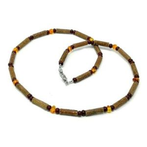 YumNaturals Emporium - Bringing the Wisdom of Mother Nature to Life - Genuine Baltic Amber Hazel Wood Necklace_1
