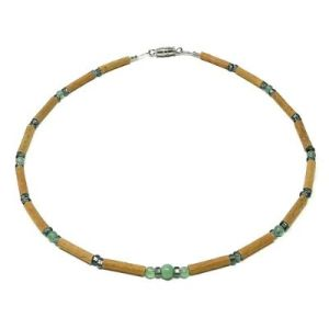 YumNaturals Emporium - Bringing the Wisdom of Mother Nature to Life - Green Aventurine Gem Hazelwood Necklace for Babies & Children_1