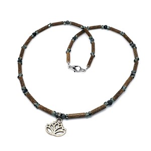 YumNaturals Emporium - Bringing the Wisdom of Mother Nature to Life - Hazelwood Labradorite With Lotus Flower Bead 1