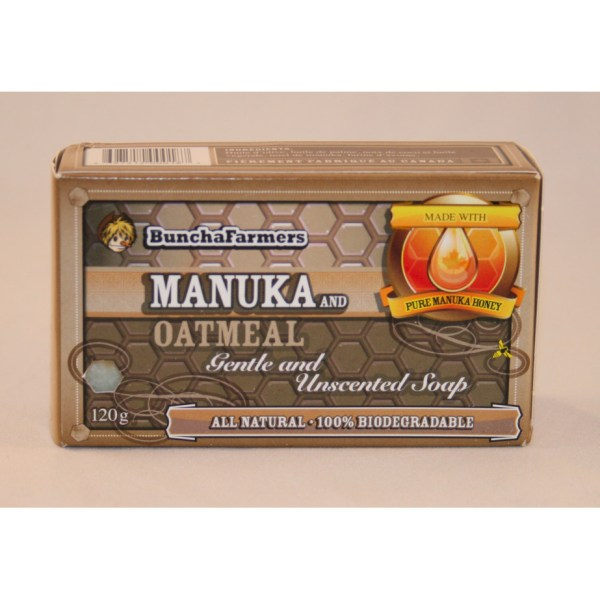 YumNaturals Emporium - Bringing the Wisdom of Nature to Life- BunchaFarmers Manuka Oatmeal Natural Soap
