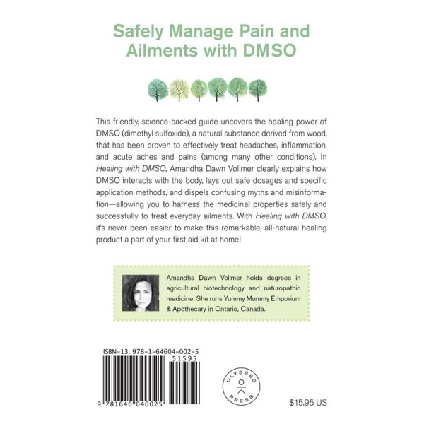 Healing with DMSO Book Cover - Back