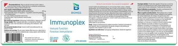 Yum Naturals Emporium - Bringing the Wisdom of Nature to Life - Biomed Immunoplex Label
