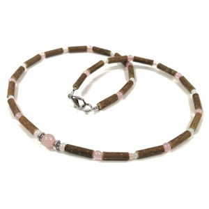 YumNaturals Emporium - Bringing the Wisdom of Mother Nature to Life - Hazelwood Rose Quartz Large Bead 1