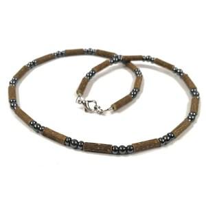 YumNaturals Emporium - Bringing the Wisdom of Mother Nature to Life - Hazelwood Hematite Necklace 1