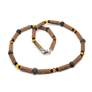YumNaturals Emporium - Bringing the Wisdom of Mother Nature to Life - Hazelwood Lava Stone Diffuser Baltic Amber Necklace 1