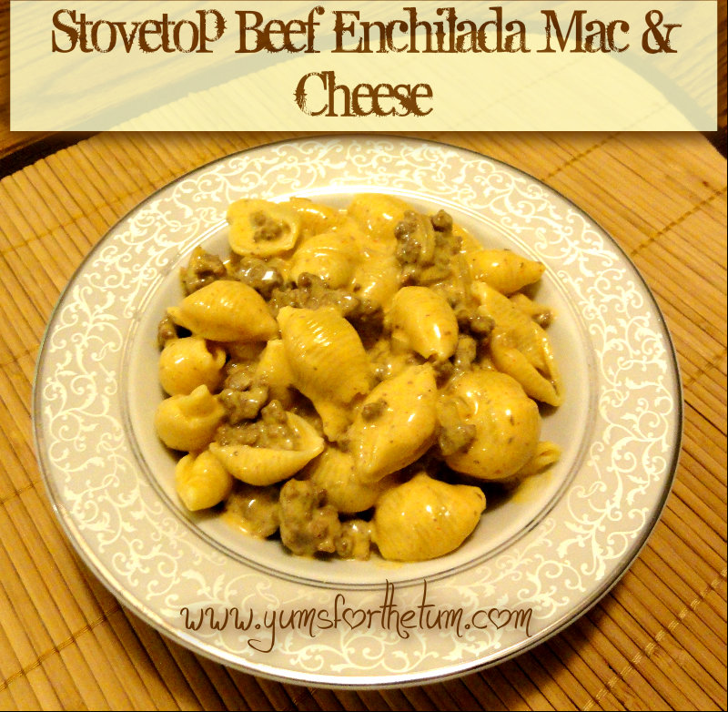 Stovetop Beef Enchilada Mac & Cheese