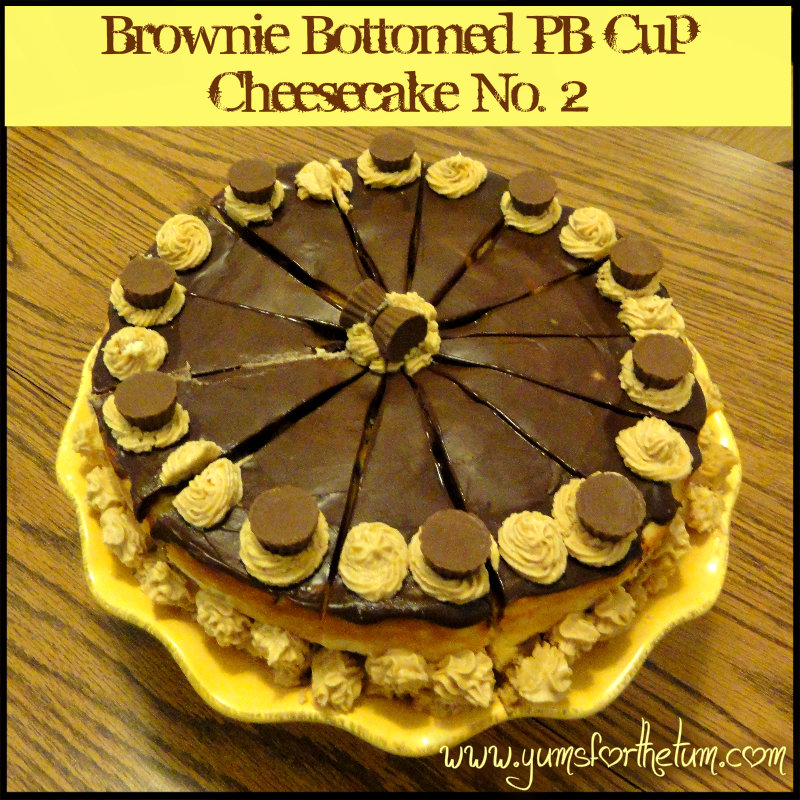 Brownie-Bottomed Peanut Butter Cup Cheesecake (Version 2)