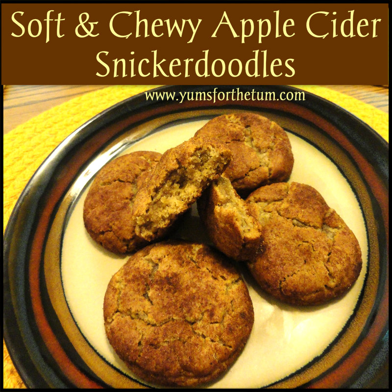 Soft & Chewy Apple Cider Snickerdoodles