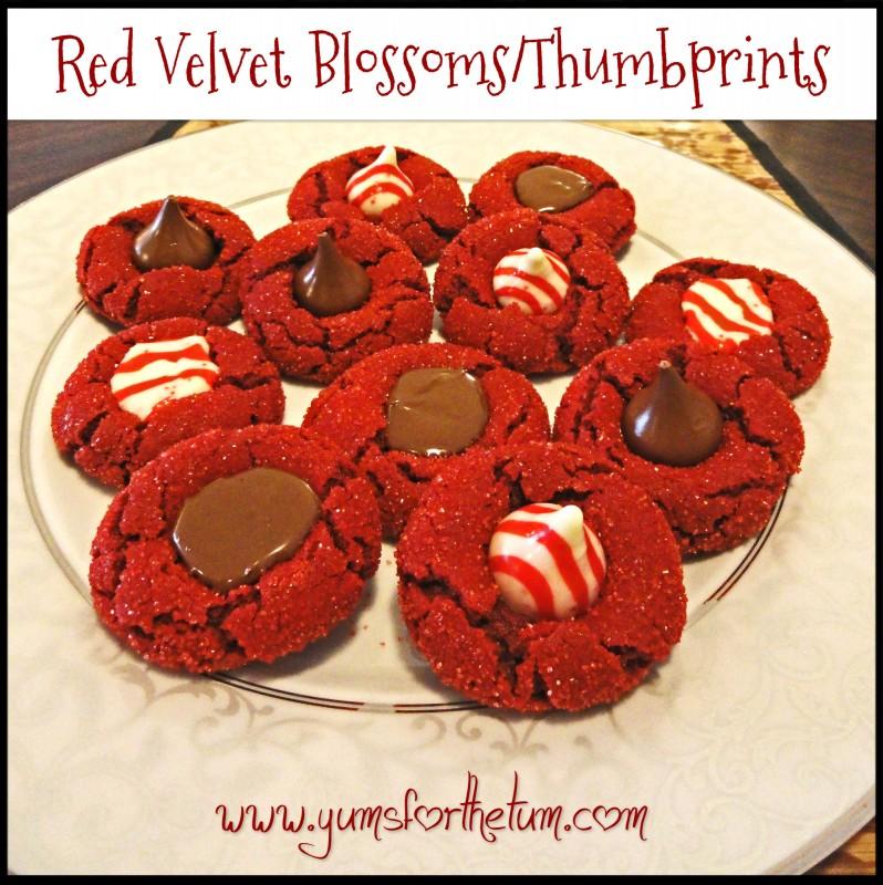 Red Velvet Blossoms/Thumbprints