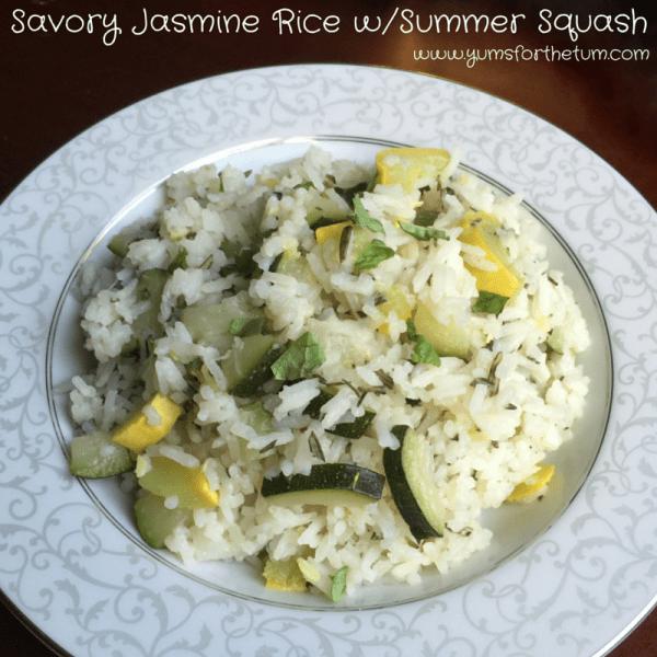 Savory Jasmine Rice w-Summer Squash (3)