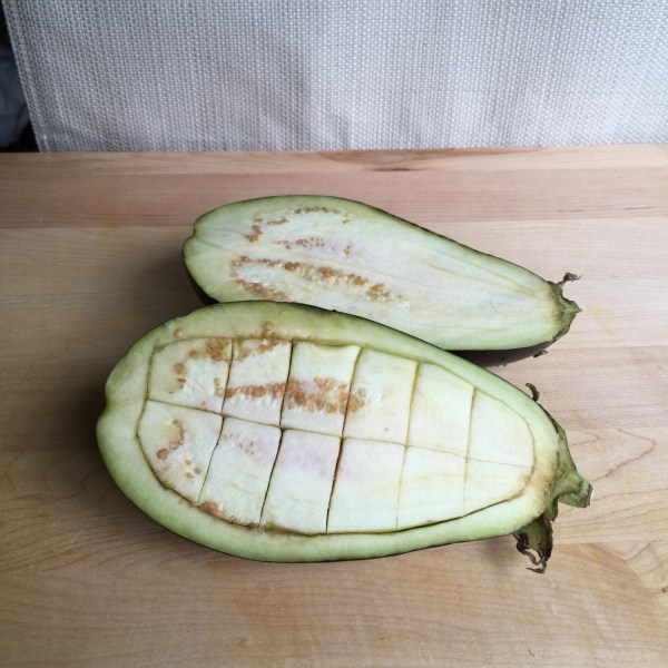eggplant fully sliced