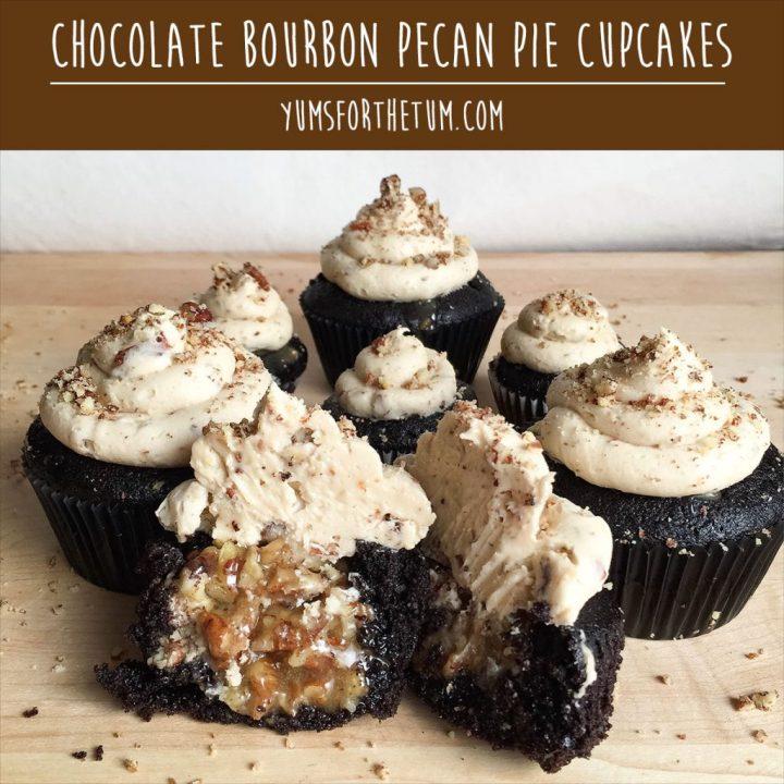 chocolate-bourbon-pecan-pie-cupcakes