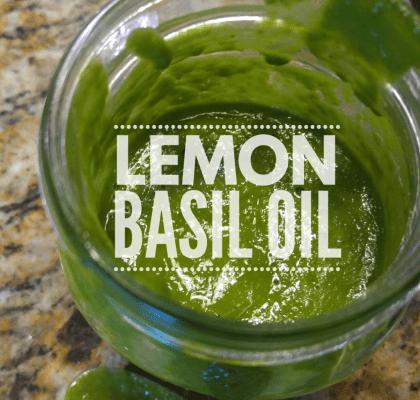 Lemon Basil Oil