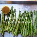 Organic Lemony Thyme Asparagus/ Paleo/Vegetarian