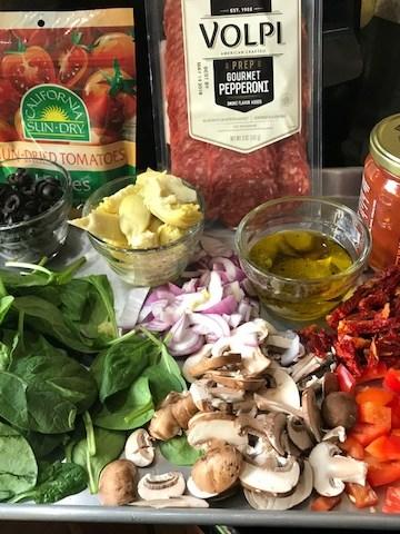 Healthy Sun-Dried Tomato Grilled Pizza Recipe
