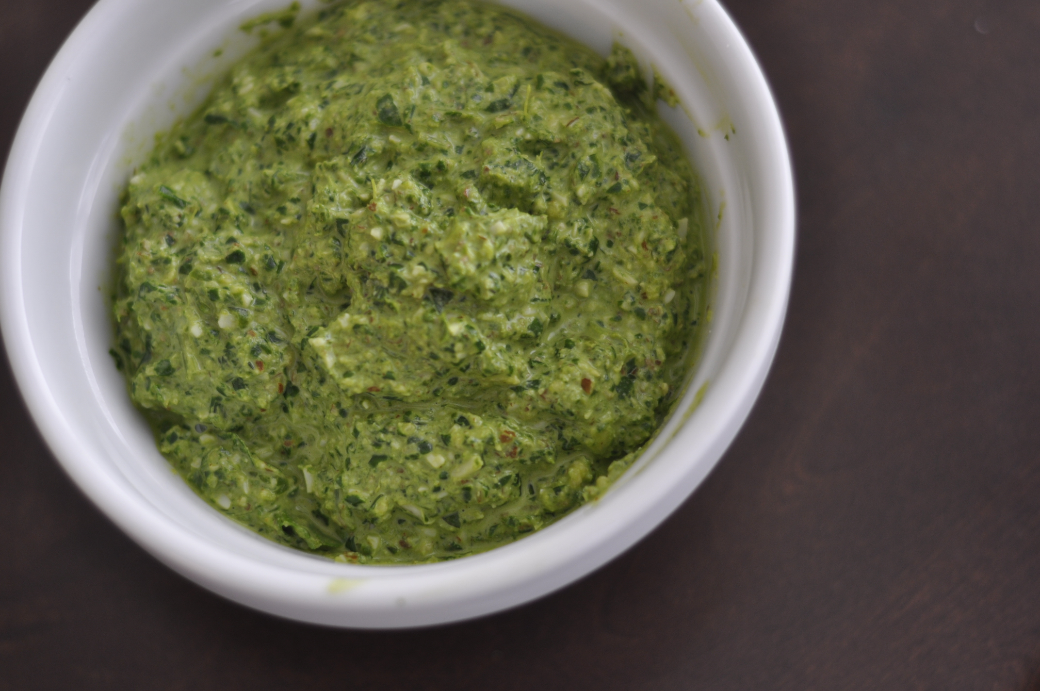 Spinach and Arugula Pesto
