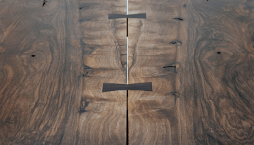 Dining Table Top - Close-up, George Nakashima (see photo credit #3 below)