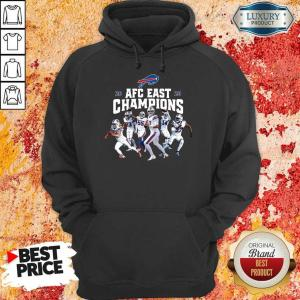 Buffalo Bills Players 2020 AFC East Champions Hoodie