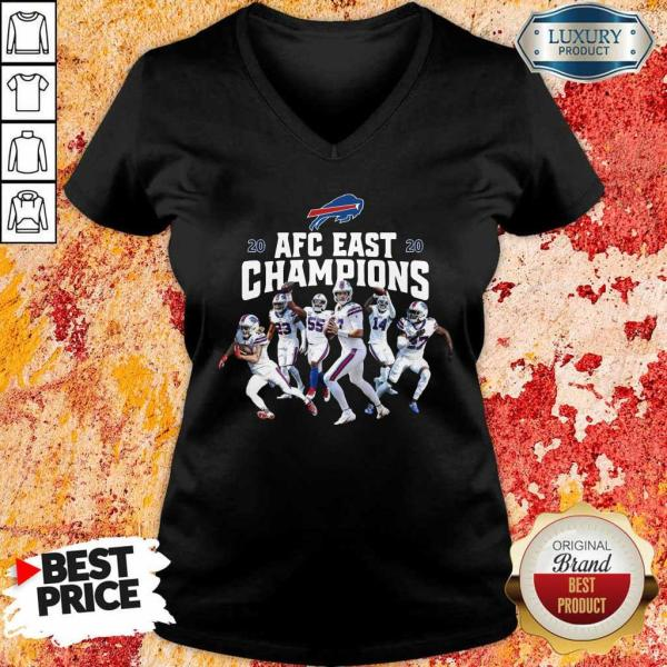 Buffalo Bills Players 2020 AFC East Champions V-neck
