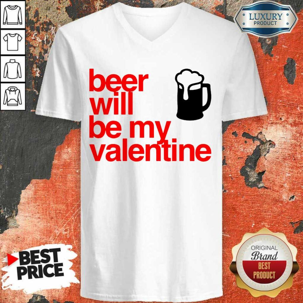 KeenBeer Will Be My Valentine 2021 V-neck