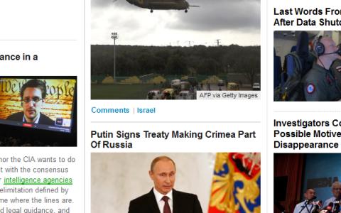 Tampilan halaman blog Huffington