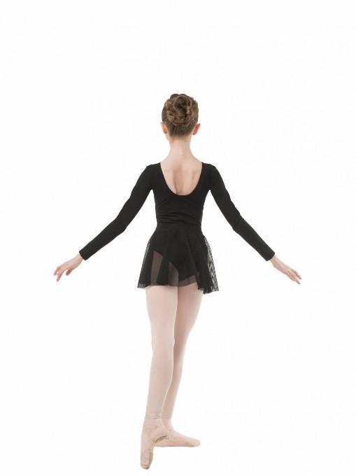 Купальник с юбочкой для танцев чёрный, белый