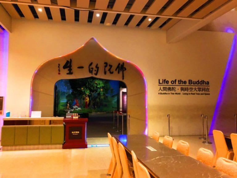 仏陀の一生を伝える展示室
