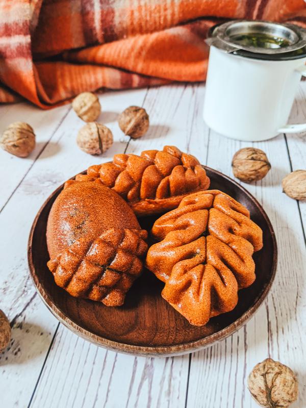 gateau aux noix et a la pate de haricot rouge coreen