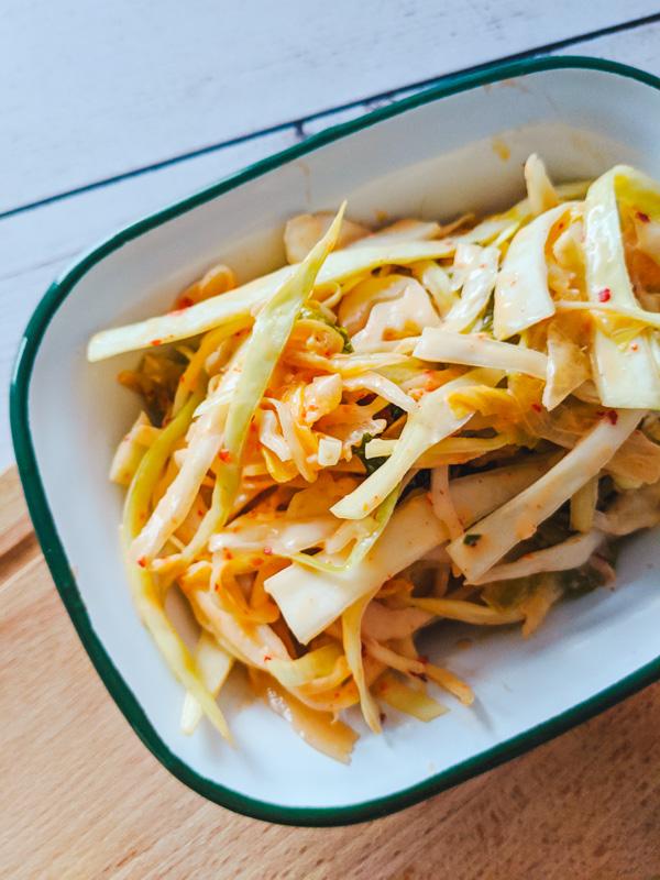 salade de kimchi
