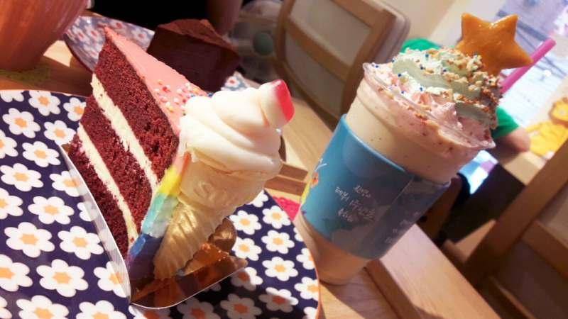 Desserts colorés du Caffe Yam