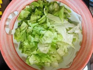Recette albap étape 4 couper la salade