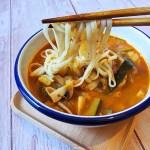 jjambbong, nouilles au fruits de mer coréenne