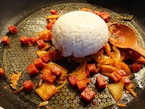 kimchi fried rice etape 5