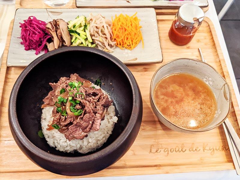 bibimbap de le gout de kyun, restaurant coréen lyonnais