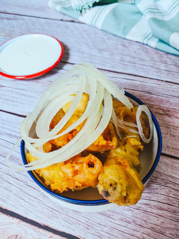 poulet frit au cream onion