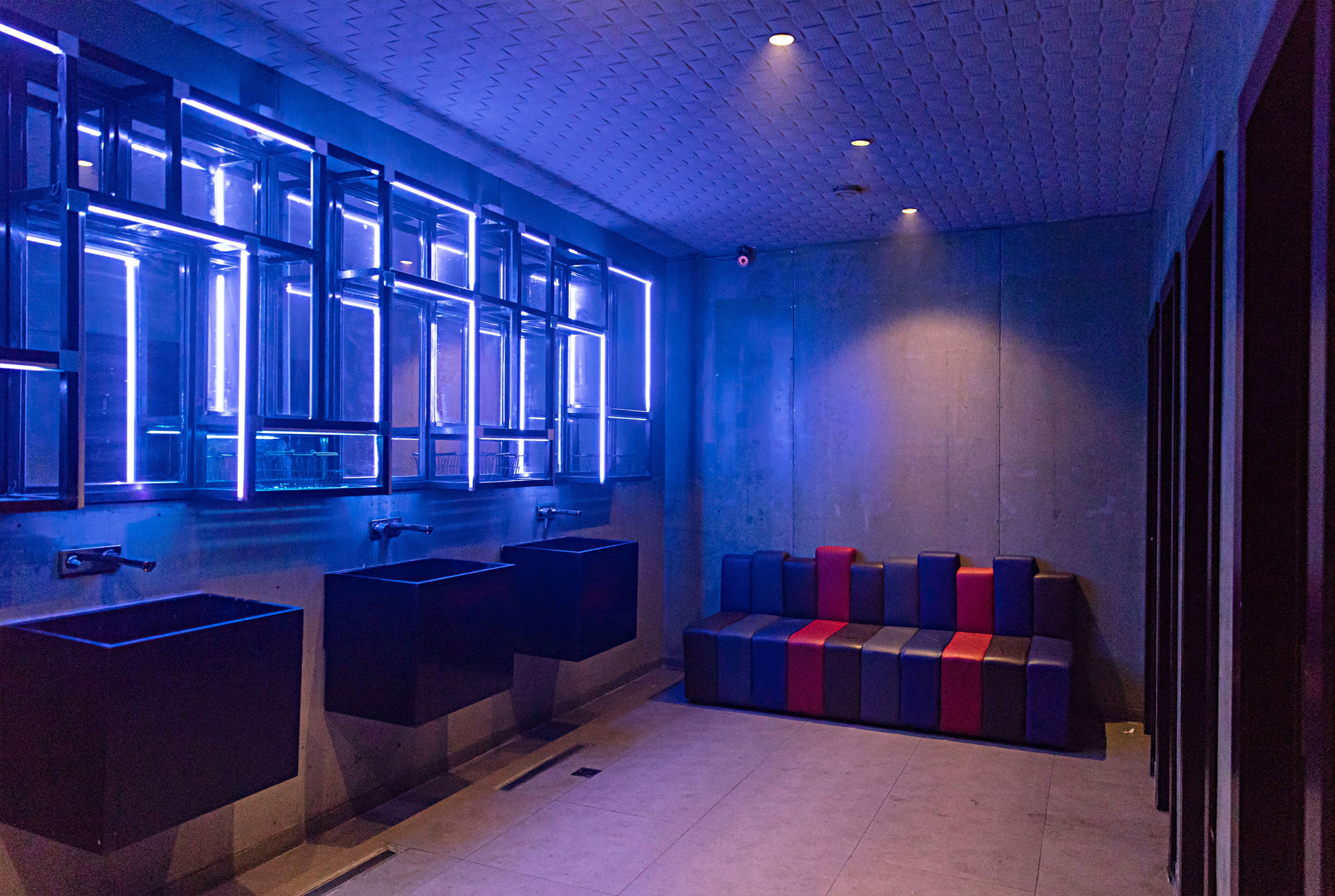 Night club led wall - interior design