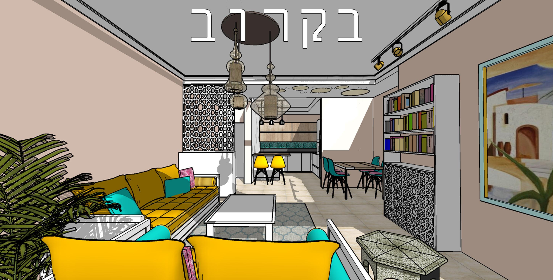 עיצוב פנים לדירת קבלן בירושלים תהליך עבודה