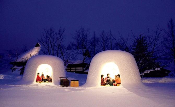 雪のかまくらの由来と作り方は?家族で作るには2つのコツを意識せよ