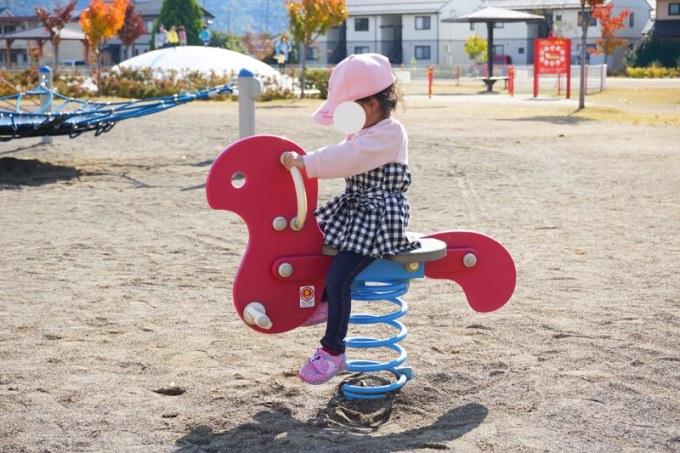 篠ノ井中央公園 スプリング遊具