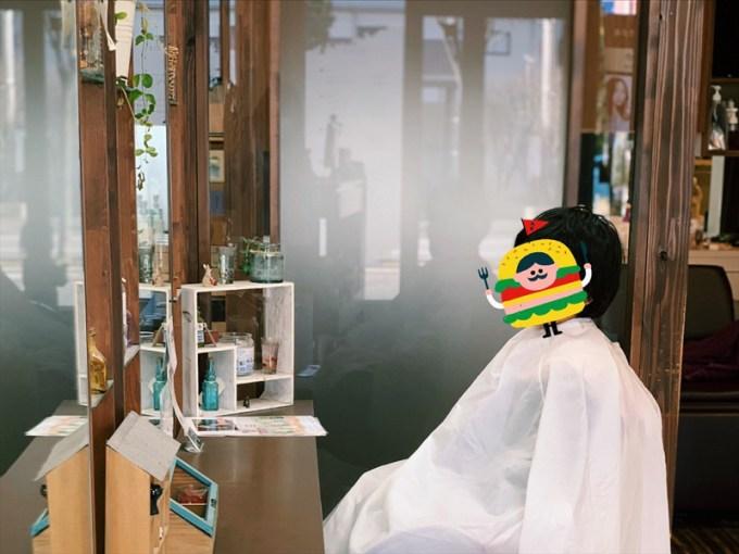 美容院でキッズカット