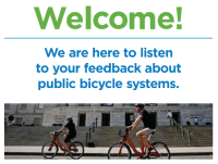Introductory Display Board for Vancouver's public Bicycle System open house.