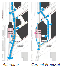 Rendering of one example of MARA's alternative beside the current proposal
