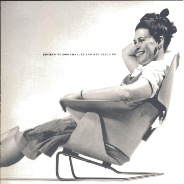 Ray Eames on the front cover of 15 Things Charles and Ray Eames Teach Us
